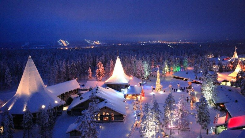 A panoramic view of Santa Claus Village in Rovaniemi