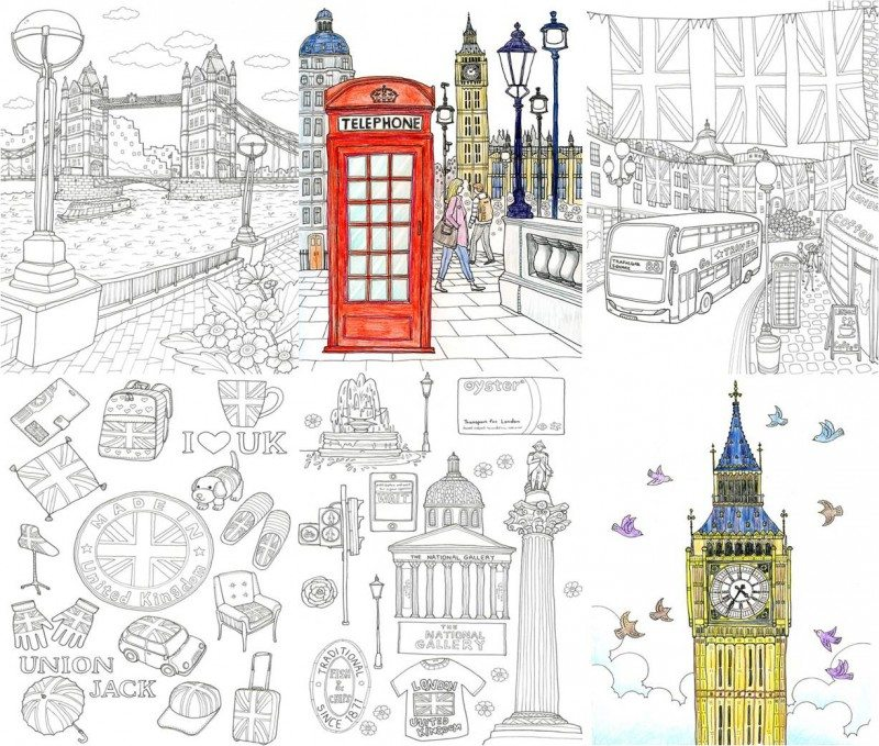 City And Travel Coloring Book