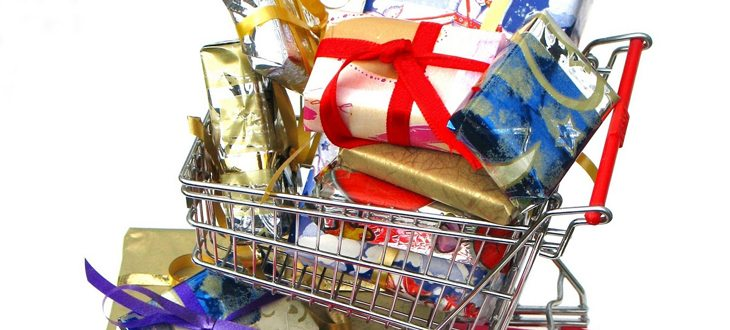 Christmas shopping with credit card promotion
