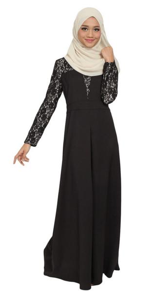 Lorretta Lace Maxi Dress - Black
