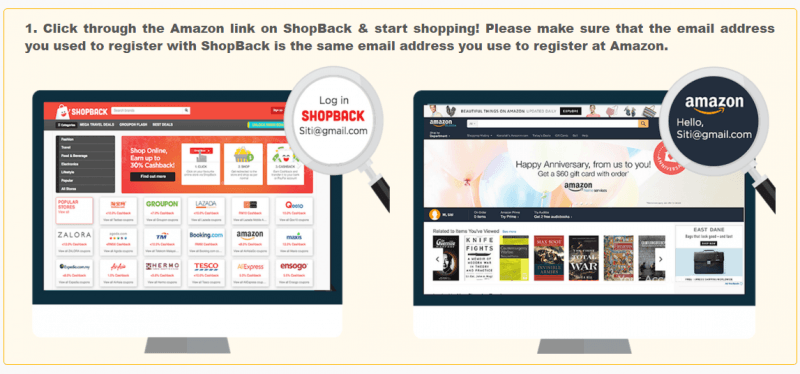 ShopBack and Amazon Courier Service