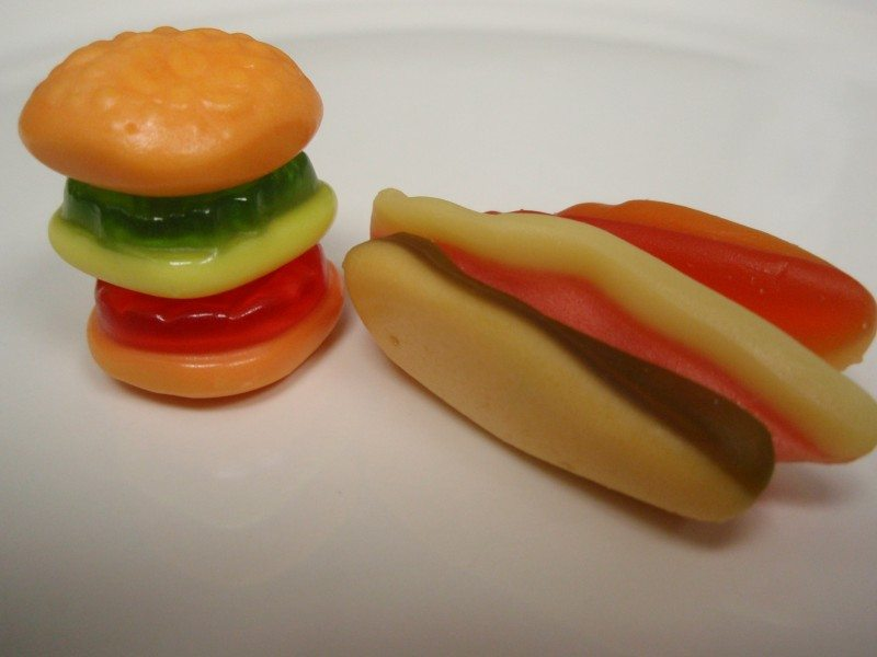 Yupi Gummy Burger and Hotdog